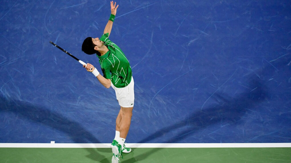 Tennis Djokovic sweeps Khachanov and joins the semi finals in Dubai
