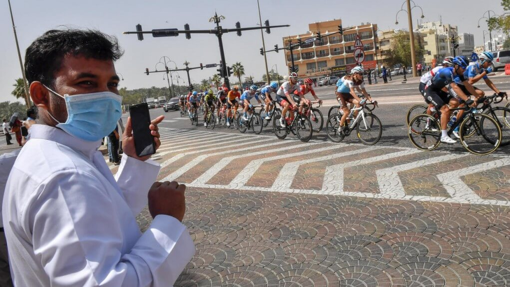 coronavirus the last two stages of the uae cycling tour canceled