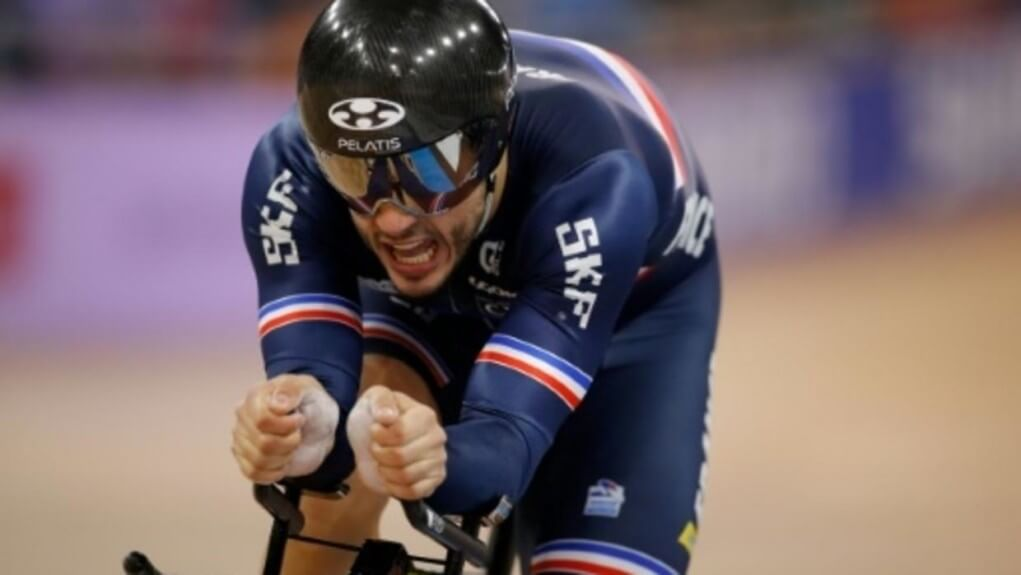 track worlds lafargue and d almeida on the kilometer podium