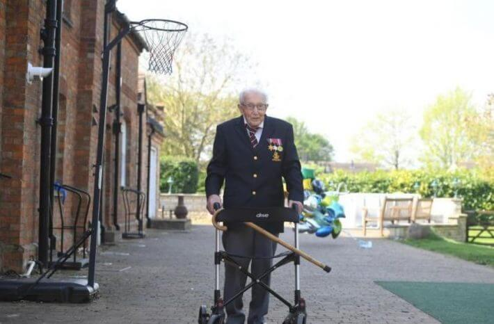 99-year-old Briton collects millions of donations -  TEH