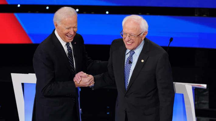 US election - Bernie Sanders supports Joe Biden - politics