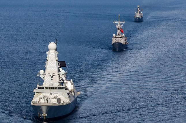 1.2 thousand sailors from the USA and Great Britain participated in the exercises.