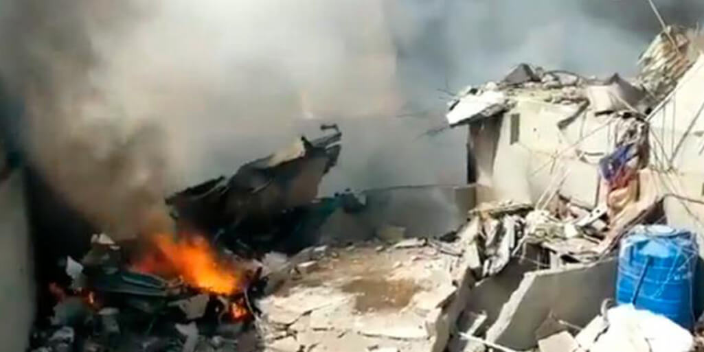 PIA plane crashed near Karachi port