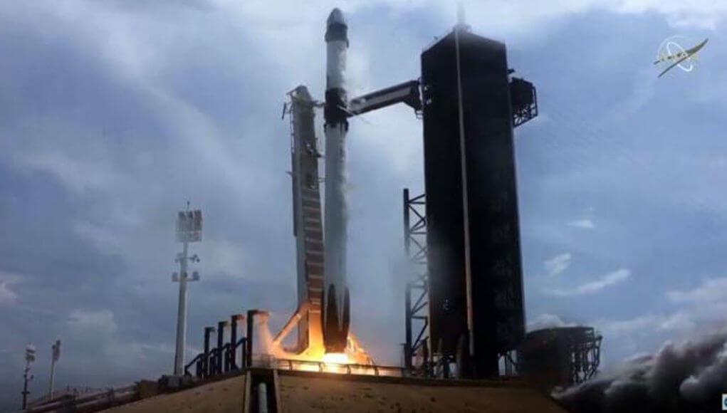 SpaceX Crew Dragon starts its space journey for the International Space Station