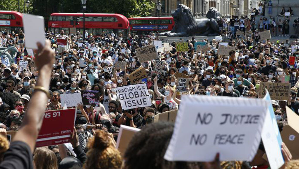 Protests in Copenhagen and London against racism, Floyd's murder case