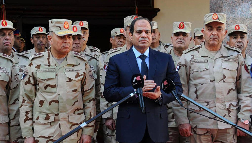 """Egyptian forces... ready for any operation inside or outside"""" says ..."""