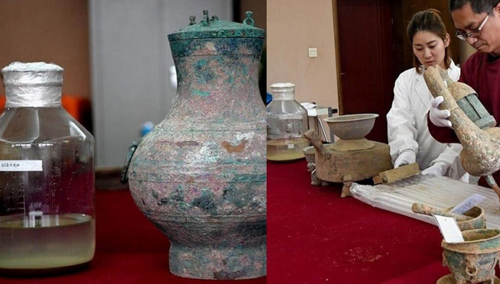"In the ancient Chinese tomb found the ""elixir of immortality"", Han Dynasty"