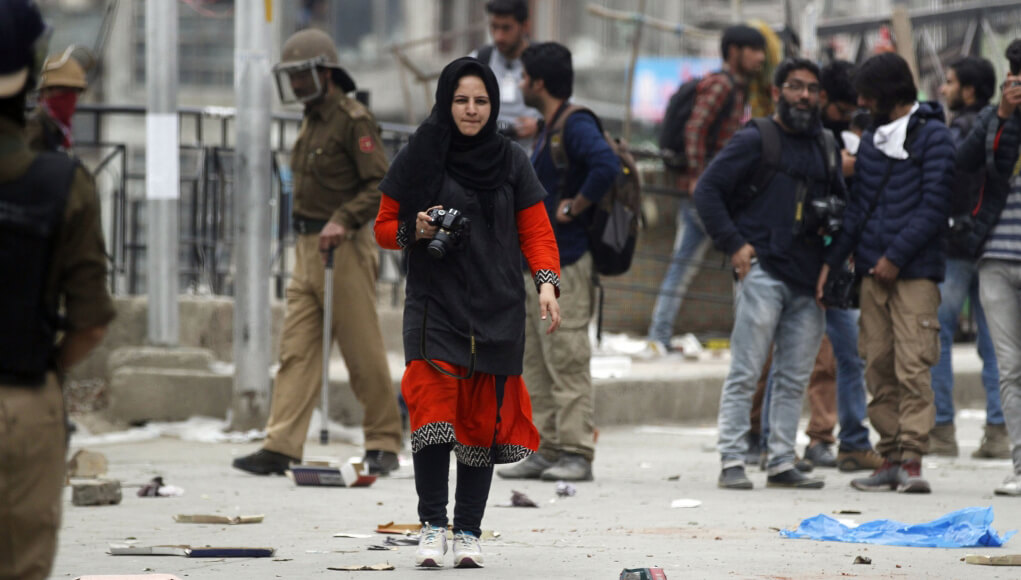 Masrat Zahra India Kashmir valley reporter journalist detained arrested by Indian police, India news; The Eastern Herald News