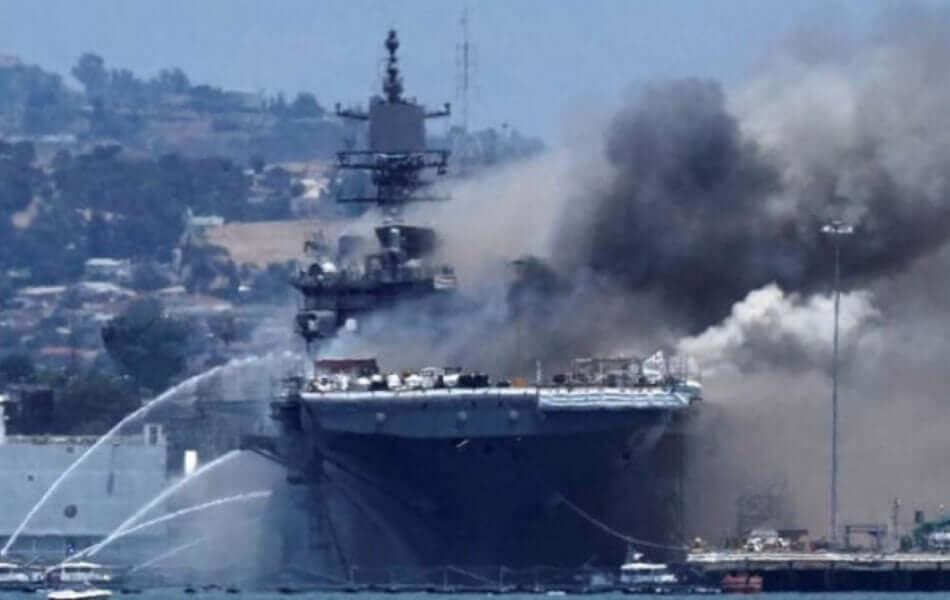 US Navy Ship on Fire, usa navy news, army news, american navy news, american army news, american navy ship, us battle ship fire , world news, breaking news, latest news; The Eastern Herald News