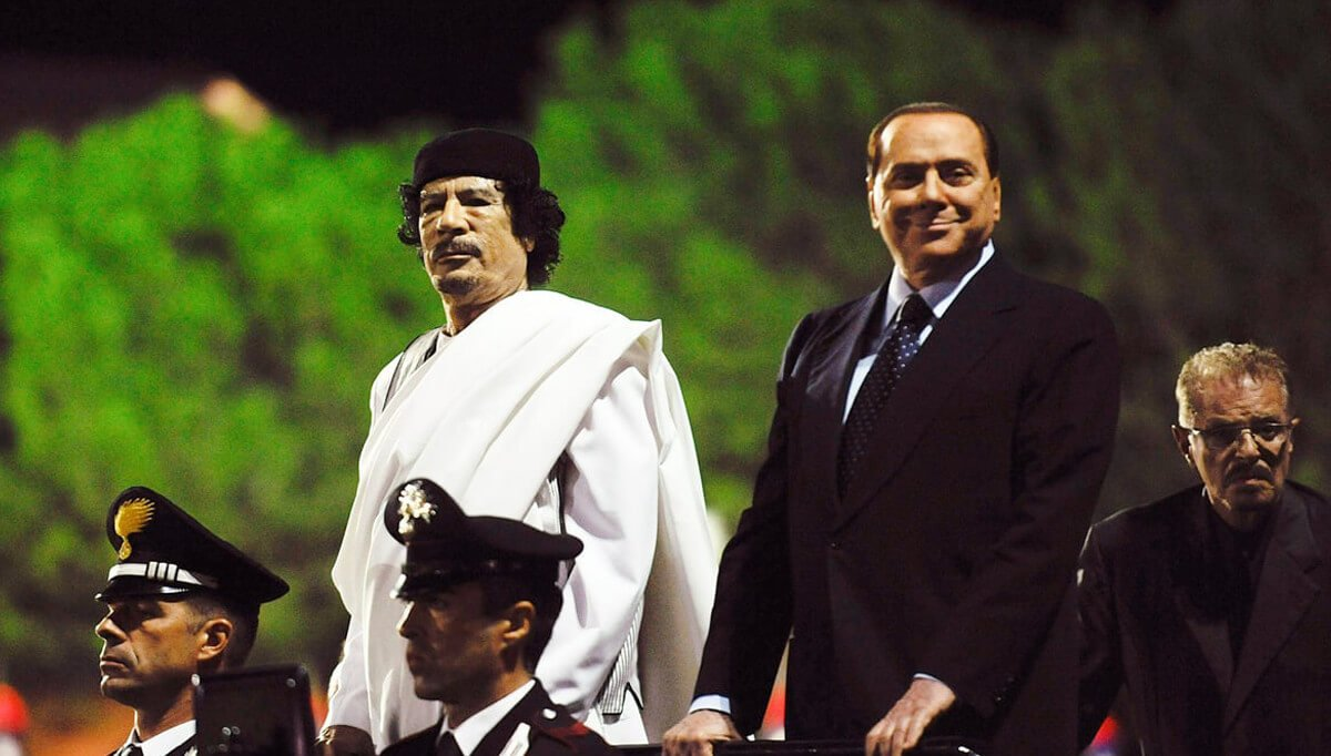 Italy supports Berlusconi's agreements with Gaddafi and his position on Libya