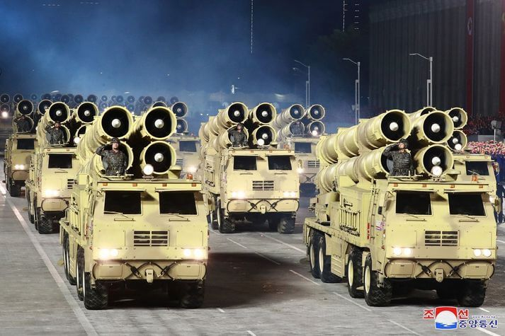 Many types of missiles were displayed during the parade.