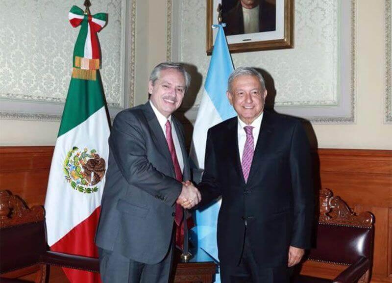 Alberto Fernandez and Lopez Obrador.