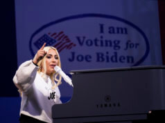 Lady Gaga and Jennifer Lopez sing for Biden