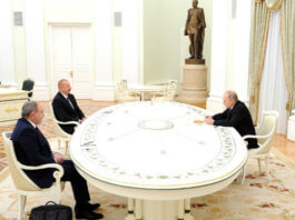 Meeting of Vladimir Putin with Ilham Aliyev and Nikol Pashinyan